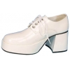 Shoe Platform Wht Pat Men Large